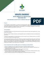 Regulamento Da Certificação Grupo Padrão FINAL1