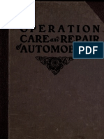 (1910) The Operation, Care and Repair of Automobiles
