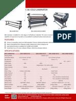 Easty Laminator BU-1600E.WARM laminador / lamination / laminacion