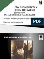 Paradigma Biomedico de Margarita Poblete Expositora Luz Consuelo Yallico Madge