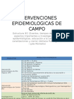 Epidemiologicas de Campo