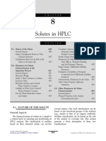 Chapter 8 Solutes in HPLC 2013 Essentials in Modern HPLC Separations