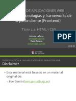 Tecnologías y frameworks de la parte cliente