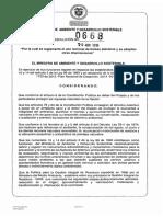 Resolución 0668