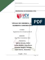Informe - Zocalo de Ceramica