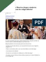 Uite Ce Spune Biserica Despre Căsătoria Între Doi Oameni de Religii Diferite-par Calistrat