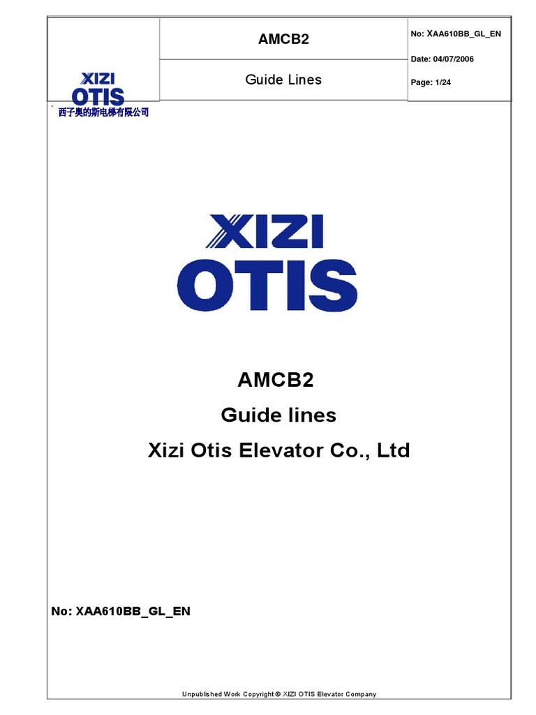 xaa610bb gl en menu computing elevator rh scribd com otis elevator service manual Otis Elevator Logo