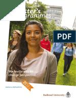 Master Programme University