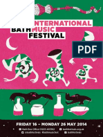 2014 Bath International Music Festival Brochure
