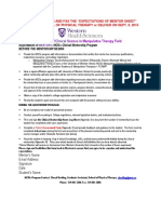 Mentorship Expectation Forms for Mentor and Mentee
