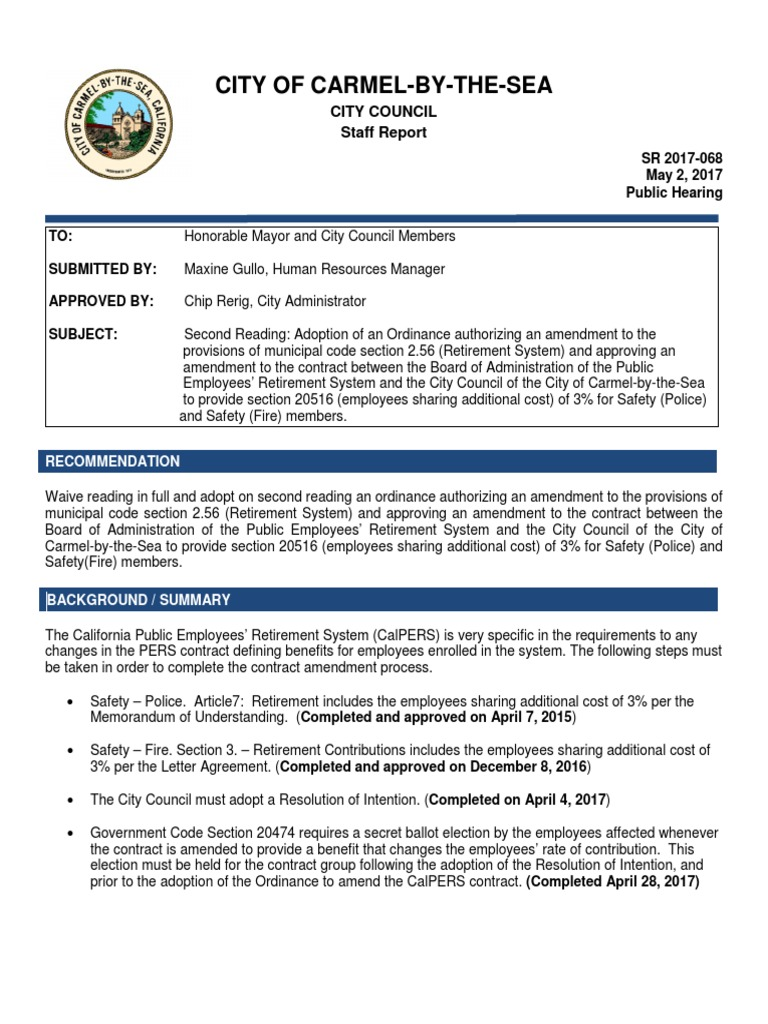 Second Reading Calpers 05 02 17 Cal Pers Indemnity