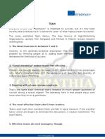 TEAM - Characteristics + successful team