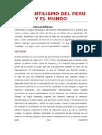 Mercantilismo Del Perú y El Mundo