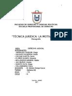 Técnica Jurídica Motivación Monografía