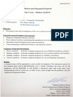 Technical and Financial Proposal