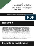 Desigualdad en Bolivia