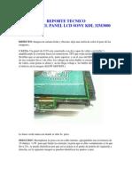 Reporte Tecnico Falla Panel Sony Kdl 32m3000