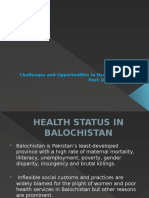 Health - Challenges & Opportunities in Balochistan by Dr. Taj Baloch (2)