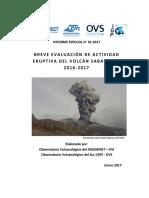 Sabancaya Breve Evaluacion de Actividad Eruptiva Del Volcan Sabancaya 2016-2017