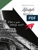 Air Culinaire Worldwide - Paris Menu - April 2017