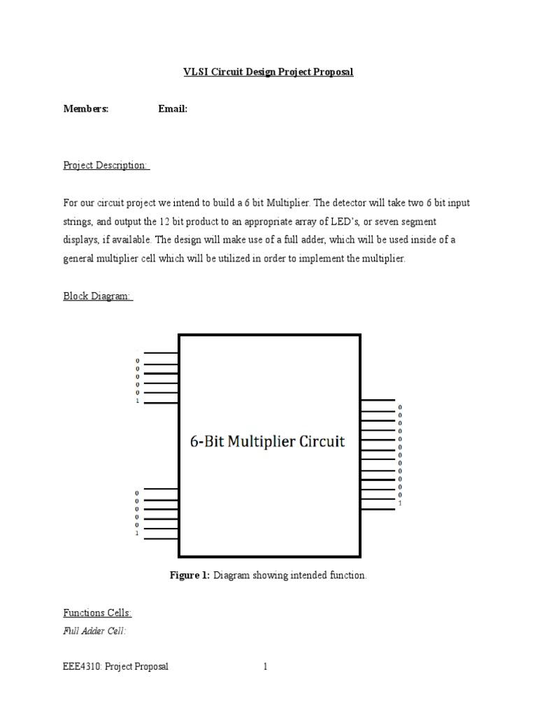 Vlsi Circuit Design Project Proposal Block Diagram Of Full Adder 1534748609v1