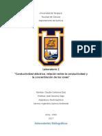 Informe Laboratorio 2 Conductimetría
