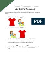 economics pre post-assessment