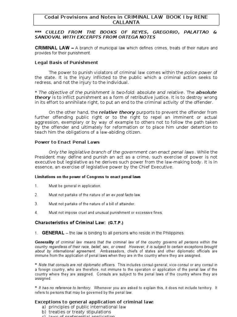 criminal law book1 | intention (criminal law) | crime & justice
