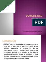 DURABILIDAD- LIXIBIACIÓN