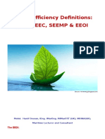 Energy Efficiency Definitions EEDI SEEMP EEOI