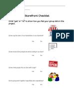 storefront checklist