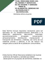 2. Norma Oficial Mexicana Nom-120-Ssa1-1994, Bienes y Servicios