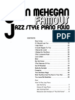 MEHEGAN Folio Famous Jazz Style Piano
