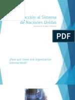 Introducción Al Sistema de Naciones Unidas