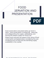 Food Conservation and Presentation