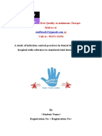 PROJECT-Infection Control Practices in Dental Department NABH