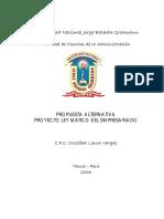 Proyecto Ley Marco Del Empresariado