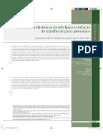 Efeitos hemodinâmicos da nifedipina na inibição do trabalho de parto prematuro