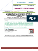 FORMULATION AND EVALUATION OF IMMEDIATE RELEASE TABLETS OF METOPROLOL SUCCINATE