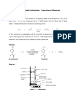 Experiment 9 Phenacetin