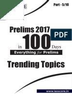 Trending Topics Part 5 of 10 Prelims