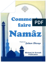 Comment Faire Namaaz (selon Madhhab Hanafiy)