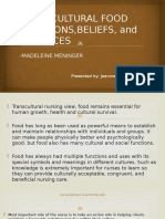 Transcultural Food Functions,Beliefs, And Practices