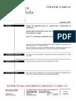 Indice UEe EN 81