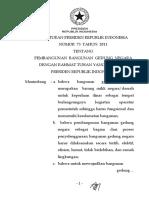 Perpres 73 - 2011 PBGN Ukuran A5
