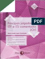Principais Julgados Do STF e STJ Comentados Dizer Direito 2016