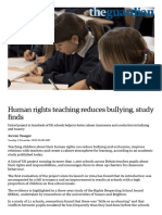 Human Rights Teaching Reduces Bullying, Study Finds _ Education _ the Guardian
