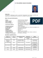 CV of Mohammed Anisur Rahman
