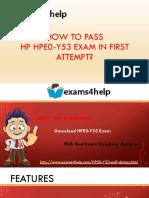 HPE0-Y53 PDF Dumps