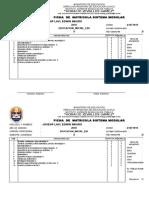 Ficha de Matricula Sistema Modular